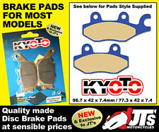 FRONT LEFT HAND SET OF DISC BRAKE PADS TO SUIT SUZUKI LT-R450 LTR450 (06-12)