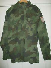 Vintage Serbian Army Serbia Camo Uniform Shirt w. patch sz 44