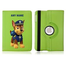 Chase Paw Patrol Name Personalised iPad 360 Rotating Case Cover Birthday Gift