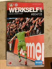 PROGRAMM WERKSELF LIVE BAYER 04 LEVERKUSEN v FC BAYERN MÜNCHEN SAISON  17.10.21