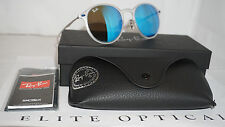 Sunglasses RAY BAN LightRay Transparent Silver Blue Mirror RB4224 646/55 49 140