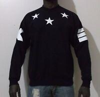 Mens star urban Hip Hop crewneck sweatshirt dope rap sweat cross yeezy hype ring