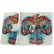 For Apple iphone 4 4s PU Leather Wallet Card Holder Cover Pouch Circus Elephant