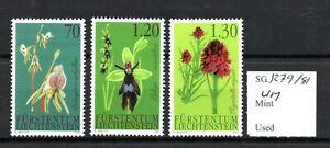 Liechtenstein 2002 Orchids set SG1279/81 MNH