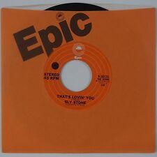 SLY STONE: That's Lovin You USA Epic SOUL NM- Gorgeous Soul 45