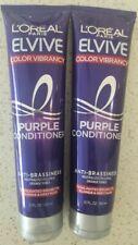 2 L'Oreal Paris Elvive Purple Conditioner Color Vibrancy Anti-Brassines  5.1 oz