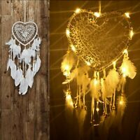 LED Light Up Dream Catcher Decor Bedroom Background Dreamcatcher Feather White