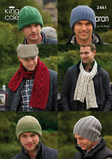 King Cole Aran Knitting Pattern 5544:Assorted Hats
