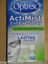 OPTREX ACTIMIST 2 IN 1 EYE SPRAY FOR TIRED + UNCOMFORTABLE EYES NEW/BOXED 10ml