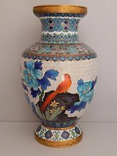 Vendimia cloisonne chino 26 cm de alto Florero-Gran Diseño