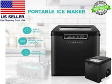 Crownful Electric Countertop Ice Maker with Scoop & Basket 0.8L Ice Capacity