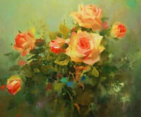LMOP1148 beautiful 100% hand painted flowers art oil painting on canvas