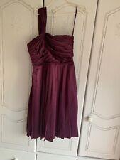 Trinny & Susannah Plumb Colour One Shoulder Party Dress Size 12 Pre Owned