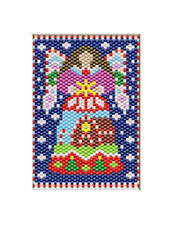 Candy Cane Angel Beaded Banner Pattern Only