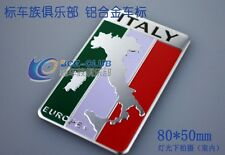 D230 Italien Flagge auto aufkleber Italy flag 3D Emblem car Sticker Alu Top