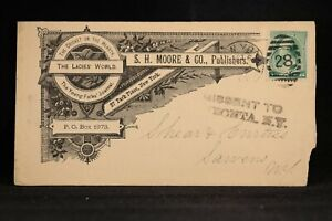 New York: New York City 1888 Ornate Moore Publisher Missent Advertising Cover