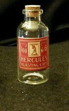 Vintage Style Hercules Glass Blasting Cap Bottles...Artist Handcrafted ...Nice