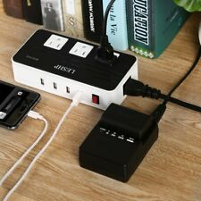LESHP 200W Voltage Converter with 4 USB Ports,Step Down 220V to 110V Power USA