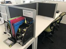 5 desk work station with steel legs and dividers - Bargain Price