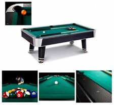 Pool Table Game Room 90-inch Billiard Balls Cues Table With Bonus Accessory Kit