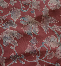 Japanese vintage kimono silk fabric Hand Tinted Karabana