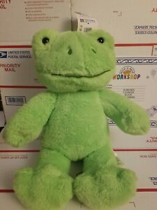 Spring Green Frog Build-A-Bear Online Exclusive Stuffed With Certificate!