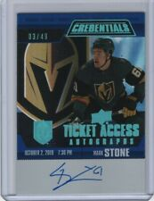 2019-20 Upper Deck Credentials Ticket Access Autograph #TAA-MS Mark Stone 3/49
