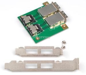 2Ports Mini SAS SFF-8088 To 36Pin SFF-8087 PCBA Female Adapter+PCI Bracket Great