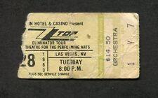 Original 1983 Zz Top Quiet Riot concert ticket stub Las Vegas Eliminator Tour