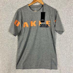 Oakley Miami Tee Athletic Grey 457780 Size Small