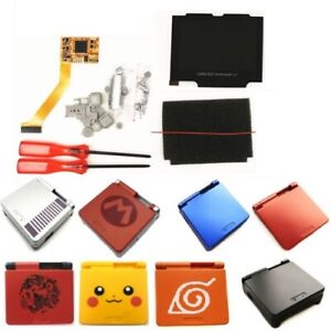 5 Levels Backlight V2 IPS Screen LCD Kit W/pre-cut Shell case For GBA SP Console