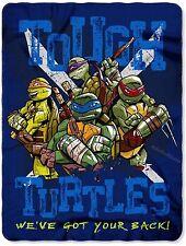 "Nickelodeon TMNT Ninja Turtles Fleece Throw Blanket 46"" x  60"""