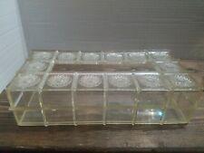 Vintage Clear Starburst Acrylic / Lucite Tissue /Kleenex Box Holder MCM RETRO