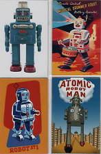 4er set robot imanes Antik Tin Toy Atomic Robotman esmoquin robot set Nº 6