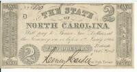 North Carolina $2 1861 issued VF Cr13 #5870 Plate D Obsolete