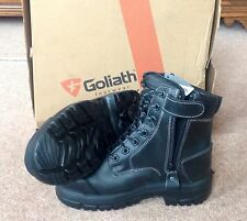 Goliath Groundmaster Combat Steel Capped Boot With Side Zip SDR15CSIZ - Size 3