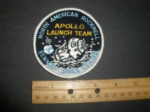 Vintage Original NASA KSC North American Rockwell Apollo Launch Team Patch