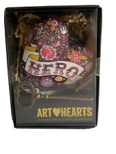 ART HEARTS by DEMDACO * My Hero * Flowers Key In Box Lauren Minco