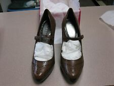 BCB Girls Womens Shoes Brown High Heels Strap Leather size 10