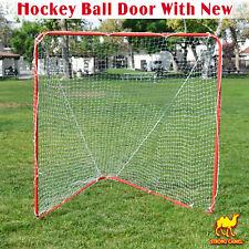 New 6' x 6' x 7' Portable Lacrosse Practice Net Quick Set Up Lacrosse Goal Sport