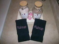 Black Makeup Remover  Washcloths- Set of 2