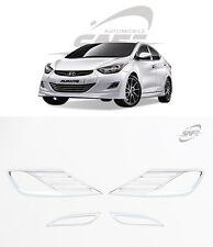 SAFE Chrome Fog Lamp Molding 4Pcs For Hyundai Elantra Avante MD 2011 2013