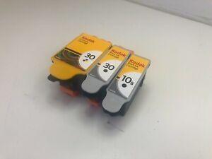 Empty Cartridges (3) Kodak 30 Blk + Color 10B Blk