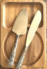 Serving Set Cake Cutting Knife And Spatula Silver Plated