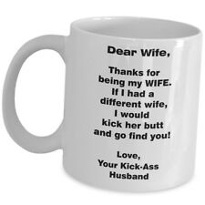 Funny Gift For Wife From Husband Coffee Mug Cup Anniversary Valentine B Day 11oz