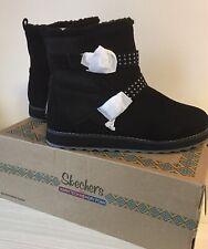 SKETCHERS LADIES Warm tech Memory foam Black Boots UK 7