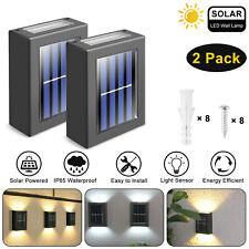 2 x Solar LED Street Wall Light Outdoor Deck Street Wall Up Down Fixture Lamp US