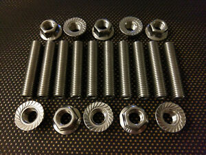 Citroen C2 16V Stainless Exhaust Manifold Studs and Flange Nuts VTR VTS