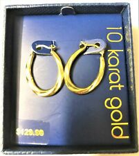 Graduated Hoop Earrings Great Look Brand New 10 Karat Yellow Gold