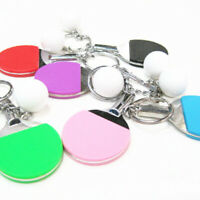 Table Tennis Ping Pong Shape Keyring Rracket Keychain Gym Pendant Creative Gifts